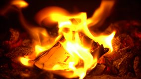 Reva-avkalendern bränner beautifully i brandnärbild lager videofilmer