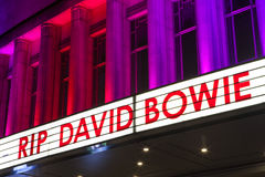 REVA David Bowie på Hammersmithen Apollo Royaltyfri Bild