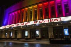 REVA David Bowie på Hammersmithen Apollo Royaltyfri Fotografi