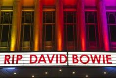 REVA David Bowie på Hammersmithen Apollo Arkivfoton