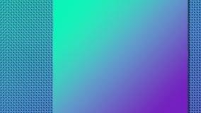 Reveal square badge for concept design with alpha matte 3D render loop animation