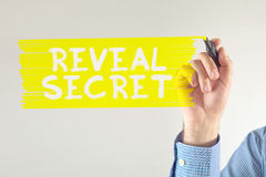 Reveal secret Royalty Free Stock Photos