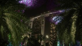 Reveal of Supertrees and the Marina Bay Sands Hotel in Singapore