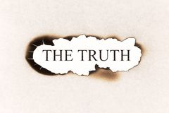 Reveal the truth - truth text Royalty Free Stock Photo