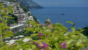 Revealing Chiesa Santa Maria Assunta in Positano Italy stock video footage