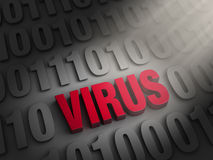 Revealing a Computer Virus Royalty Free Stock Images