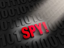 Revealing a Cyber Spy Royalty Free Stock Photos