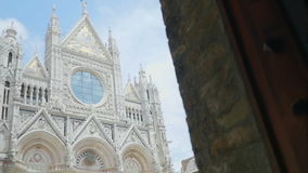 Revealing the Duomo in Siena Tuscany Italy stock video