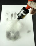 Revealing the fingerprints Royalty Free Stock Images