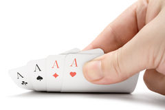Revealing Four Aces Stock Photography