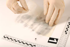Revealing and preserving the fingerprints Royalty Free Stock Photography