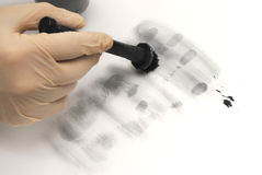 Revealing and preserving the fingerprints Royalty Free Stock Photos