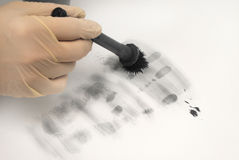 Revealing and preserving the fingerprints Royalty Free Stock Photo