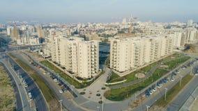 Revealing shot of residential buildings stock video