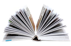 Revealling book Stock Image