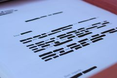 Reveiling information Stock Photo
