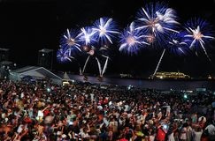 Reveillon Copacabana 2015 photos libres de droits