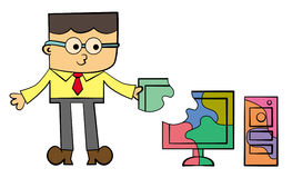 Revelador del ordenador stock de ilustración