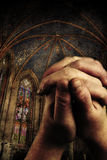 The revelation. Two hands are praising the holy lord Royalty Free Stock Images