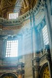 Revelation of God in a church. Revelation of God in St Peter church in Rome Royalty Free Stock Photo