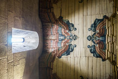 Revelation with light. Looking up the ceiling at Santa Casa da Misericordia in Braga, Portugal Stock Photo