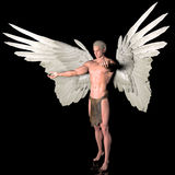 Revelation. A male angel  in a pose Royalty Free Stock Images