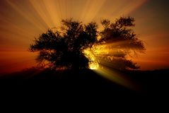 Revelation. Before the sun gone Stock Photography