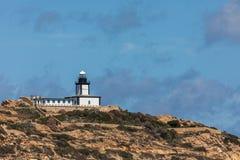 Revellata lighthouse near Calvi in Corsica Royalty Free Stock Image