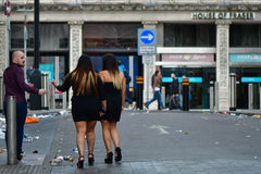 Revellers during Champions League Final Royalty Free Stock Photography
