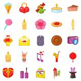 Revels icons set, cartoon style Stock Photo