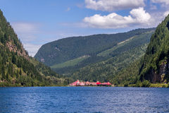 Revelstoke, Канада 2-ое июля 2016 Замок зазора 3 долин стоковое изображение rf