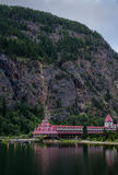 Revelstoke, Canadá 2 de julio de 2016 Castillo francés de Gap de tres valles imagenes de archivo