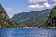 Revelstoke, Canadá 2 de julio de 2016 Castillo francés de Gap de tres valles Imagen de archivo libre de regalías