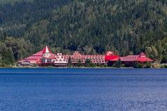 Revelstoke, Canada- July 2, 2016. Three Valley Gap Chateau royalty free stock photo