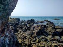 Reven eller vagga på stranden Arkivbild