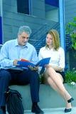 Revendo o negócio Papers-2 Foto de Stock