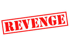 REVENGE. Red Rubber Stamp over a white background Royalty Free Stock Photography
