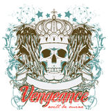 Revenge. Vector illustration ideal for printing on apparel clothes Stock Images