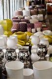 Revente des vases pour des fleurs Photos stock