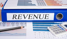 Revenue binder on desk in the office stock photo