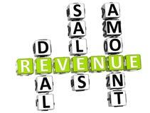 Revenue Crossword Royalty Free Stock Images