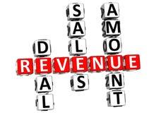 Revenue Crossword Royalty Free Stock Photography