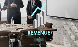 Revenue Financial Income Currency Budget Costs Concept Stock Image