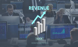 Revenue Financial Income Currency Budget Costs Concept Stock Photo