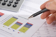 Revenue by Geography and finances Stock Image