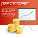 Revenue growth profit-01 Royalty Free Stock Photo