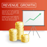 Revenue growth profit3-01 Royalty Free Stock Photo