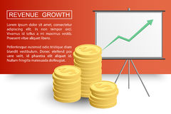 Revenue growth profit2-01 Royalty Free Stock Image