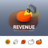 Revenue icon in different style Royalty Free Stock Photography