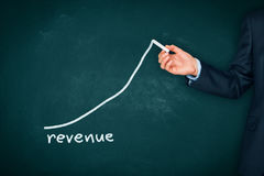 Revenue increase Royalty Free Stock Image